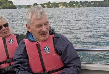Phil enjoys a sailing trip