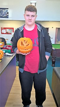 Creating a frightful pumpkin at Playlink