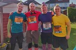 Josh and friends before their 10k run