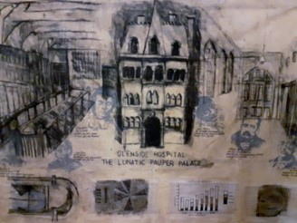 Museum exhibit: A sketch of Glenside Hospital