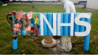 Art installation in support of the NHS