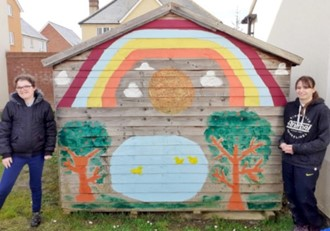 Hannah and Laura's rainbow shed